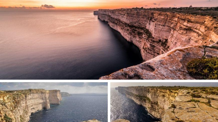 Cliffs of Ta'Cenc in Gozo