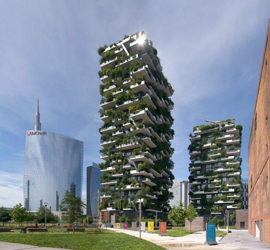 Vertical forest designed by Boeri in Milan