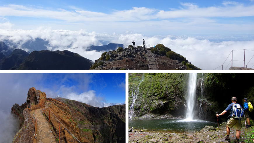 Hiking Trails. Photos by Irene Paolinelli, wikipedia.org, visitmadeira.pt