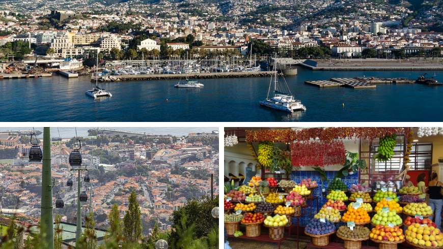 Funchal, Madeira. Photos by Pixabay.com and wikimedia.org